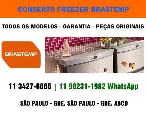 Conserto freezer Brastemp