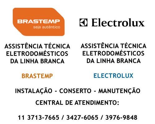 Assistência técnica de eletrodomésticos Brastemp Electrolux