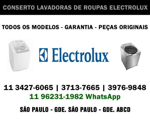 Conserto lavadoras de roupas Electrolux