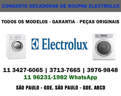 Conserto secadoras de roupas Electrolux