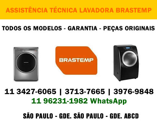Assistência técnica lavadora Brastemp