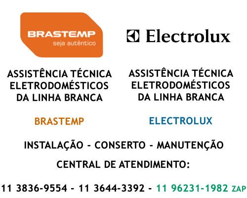 Assistência técnica Brastemp e Electrolux